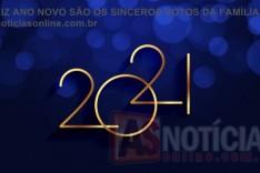 Feliz Ano Novo são os sinceros votos a todas as família