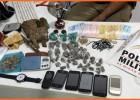 PM prende dois homens com grande quantidade de drogas no bairro Jardim das Oliveiras