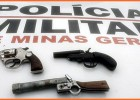 PM apreende armas mediante disque denuncia unificado na Vila Paciência