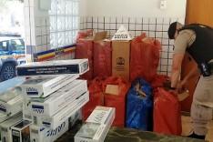 PM apreende mais de 7 mil maços de cigarros contrabandeado em Manhuaçu