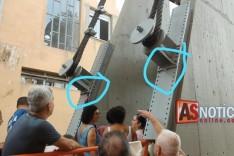 Quase tragédia na inauguração da Ponte Pênsil moradores ficaram assustados em Ferros