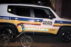 Rodoviários prende jovem de Itabira, acusado de furto de bicicleta em Santa Maria de Itabira