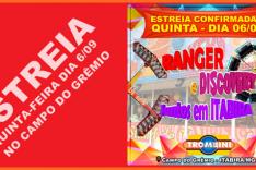 Parque de diversões TROMBINI estreia confirmada quinta-feira - dia 06/09 em Itabira