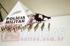Depois de atrito entre vizinhos em localidade rural de Ferros, PM prende homem, revolver e munições