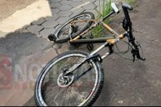 Ciclista fica ferido depois de ser atingido por veiculo no bairro Hamilton em Itabira