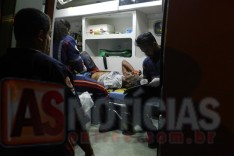 Homem leva facada e foi socorrido pelo SAMU no bairro Machado em Itabira