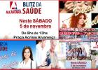 BLITZ DE SAÚDE REDE ALCÂNTARA NESTE SÁBADO 5 DE NOVEMBRO