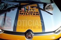Grupo Tático (GTR) apreende armas de caçadores na MG-326 em Catas Altas