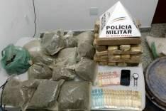 PM apreende 24 quilos de maconha no bairro Capim Cheiroso em Barão de Cocais