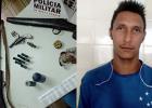 PM APREENDE ARMAS E PRENDE SUSPEITO DE HOMICÍDIO NA ZONA RURAL DE FERROS