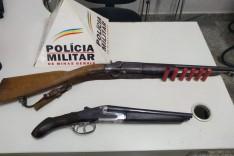 PM prende caçadores com armas e armadilhas na zona rual de Barão de Cocais