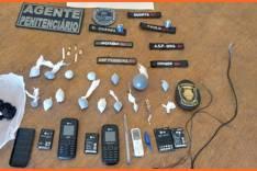 Agentes da Seap apreendem celulares e drogas no Presídio de Barão de Cocais