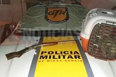 Grupo Tático Rodoviário (GTR) prende condutor e apreende arma e animal silvestre na MG-434 em Itabira
