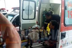 Idoso atropelado por motocicleta na Avenida Galileia foi socorrido ao pronto-socorro pelo SAMU