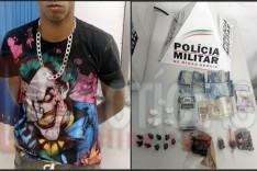 Jovem é preso suspeito de trafico de drogas no bairro Monsenhor Jose Lopes em Itabira