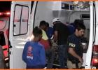 Caminhoneiro fica ferido após caminhão carregado com caixas de leite tombar em ribanceira em Nova Era