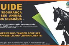 Atenção proprietários! Animais soltos no município estão sujeitos a apreensão e podem ser leiloados