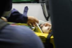 Motoqueiro fica ferido depois de colidir contra barranco na MG-129 na localidade do Cedro em Itabira