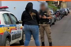 Mulher que aplicava golpes de estelionato em Itabira foi presa pela Policia Militar no bairro Machado