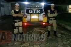 Rodoviários (GTR) em perseguição a motocicleta recupera cabos de cobre furtados da Vale em Itabira