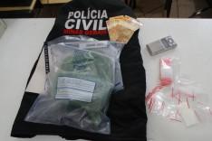 PC prende homem com grande quantidade de maconha no final do bairro Praia
