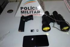 PM apreende arma, simulacro e maconha em operação de combate ao trafico de drogas em Ferros