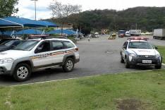 Bandidos armados assaltaram um galpão de materiais de obras as margens da BR-381 em Bom Jesus do Amparo