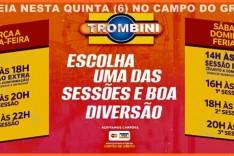Estreia Hoje Parque de Diversões Trombini armado no estacionamento do Campo do Grêmio