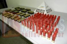 PM prende homem no bairro Gabiroba com 984 munições de diversos calibres em Itabira