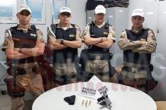 Rodoviários GTR e PRV mais um vez apreendeu uma pistola 380 na MG-129 no bairro Chapada em Itabira
