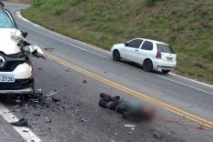 Motociclista morre em colisão frontal próximo do Siribi em Nova Era na BR-381
