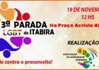"""3ª Parada do Orgulho LGBTI de Itabira terá o tema """"Abraço contra o preconceito"""""""