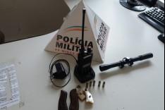PM prende um maior e apreende dois menores com radio HT e munições no bairro Pedreira