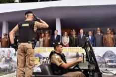 Fernando Pimentel destaca o trabalho da Polícia Militar durante as comemorações dos 243 anos da corporação