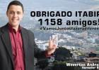 VEREADOR ELEITO MAIS JOVEM AGRADECE AOS ELEITORES PELOS 1158  VOTOS