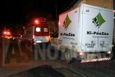 Militares do Corpo de Bombeiros e SAMU foram acionados para um incêndio em residência no bairro Praia