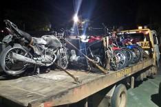 Operação da Policia Militar apreende 10 motocicletas na localidade de Santa Rita de Pacas