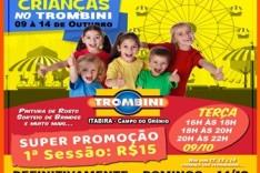 CORRA para brincar o Parque de diversões TROMBINI em Itabira só até DOMINGO 14