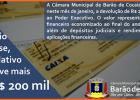 Em cenário de crise, Legislativo devolve mais de R$ 200 mil à Prefeitura