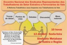 Metabase promove em Itabira Encontro Nacional de Sindicatos