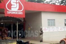 Bandidos arrombam Supermercado e levam todo dinheiro do cofre em Itabira