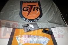 Incansável Grupo Tático Rodoviário (GTR) prende suspeito com 1 quilo de cocaína no bairro Chapada em Itabira