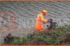 Bombeiros realizaram buscas na lagoa Santana onde localizaram dois pescadores que se afogaram em Itabira