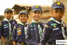 Escoteiros de Itabira participam do desfile de 7 de Setembro na cidade de João Monlevade.