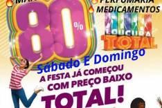 Mega Promoção Loucura Total de preços baixos Rede Ômega Drogaria Alcântara