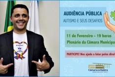 Audiência Pública sobre Autismo abordará dificuldades vivenciadas pelos itabiranos