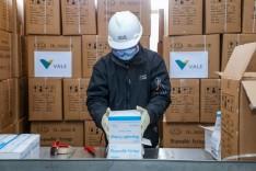 Vale anuncia chegada do primeiro lote de 2 milhões de seringas para combate à Covid-19