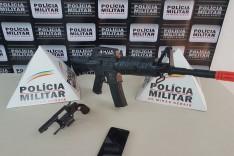 Criminosos são presos com réplica de fuzil após assalto ao hospital de Dom Silvério