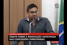 André participou da Audiência Pública sobre a ferrovia Vitória/Minas