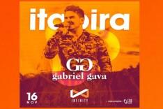 Gabriel Gava na Infinity em Itabira, corra adquira seu ingresso
